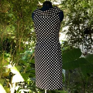 Tahari | Black & White Polka Dot Dress